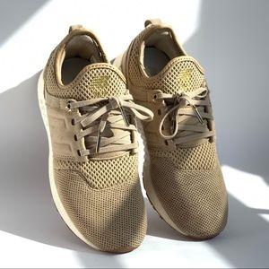 New Balance's 247 tan nubuck NB Grey sneakers EUC